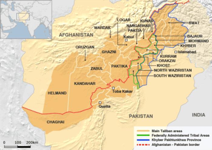Mansour Afghanistan-Pakistan Border Map; image