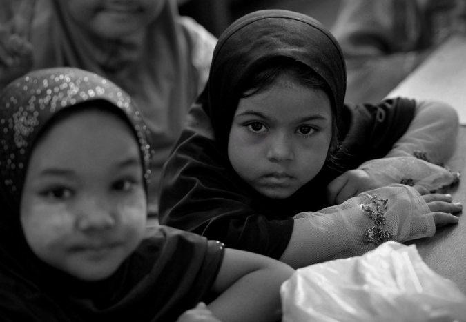 Rohingya orphans in Malaysia.