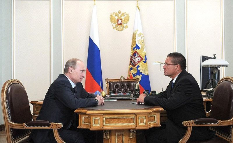Vladimir Putin and Alexei Ulyukayev