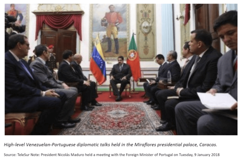 Caracas talks venezuela portugal