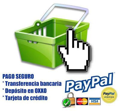 Pago seguro con Paypal. No necesitas cuenta Paypal.