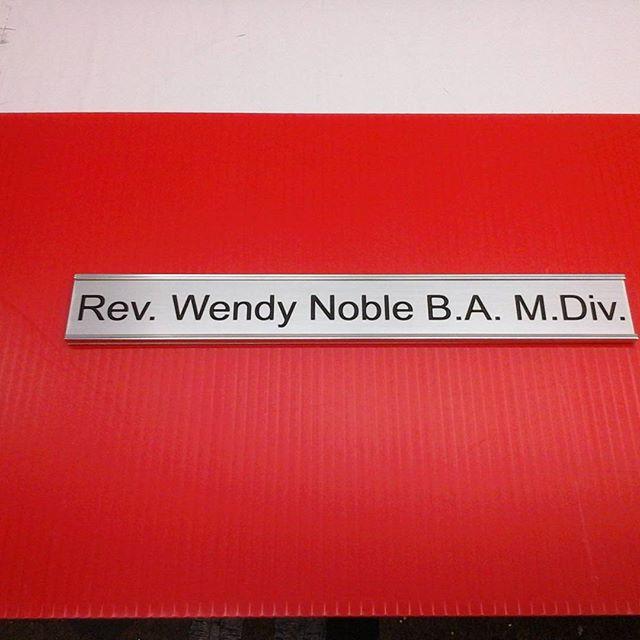Nameplate & Holder