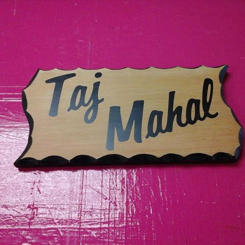 """Vinyl letters on 8"""" x 14"""" wood sign"""