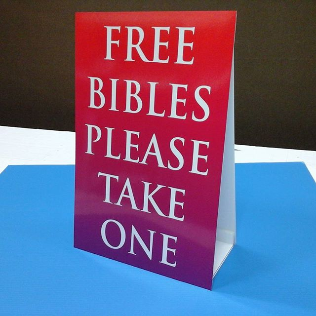 Tabletop Sign