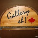 Vinyl onrustic cedar business sign
