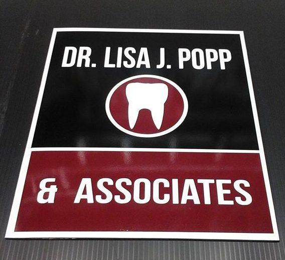 Dr. L. Popp, vinyl on alumapanel
