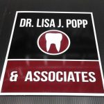 Dr. L. Popp, vinyl on alumapanel