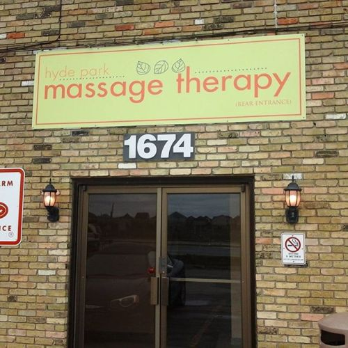 Hyrde Park Massage Therapy Sign