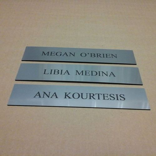 State Farm Ins., laser nameplates