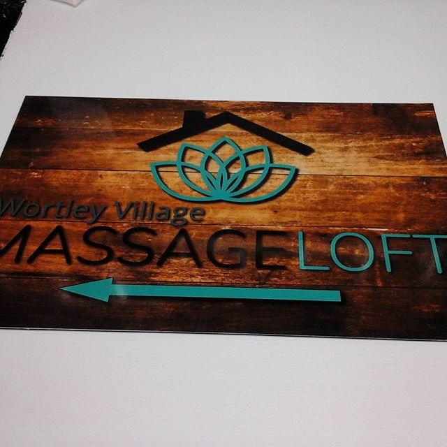 Wortley Village Massage, digital print on alumapanel