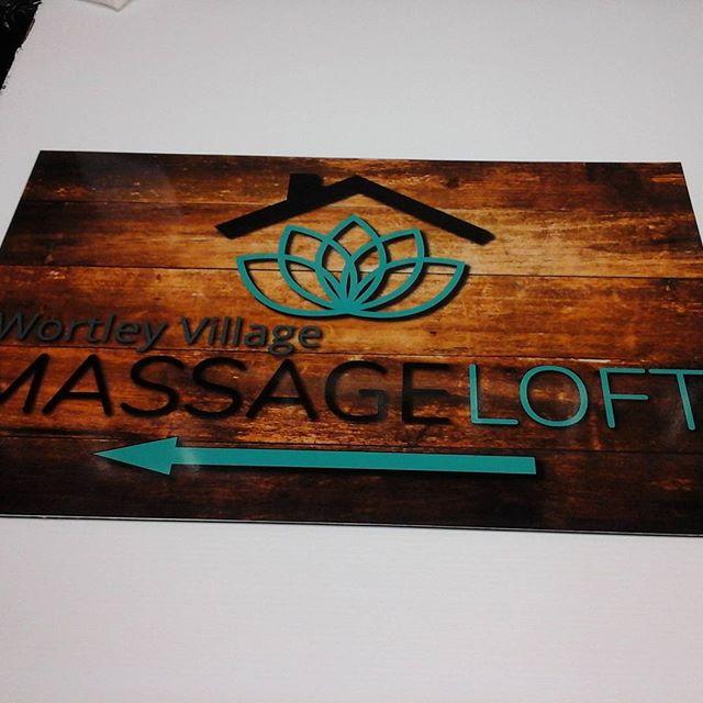 Wortley Village Massage, digital print on alumapanel