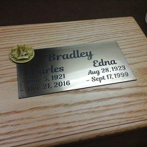 Acrylic Brushed Bronze Plaque