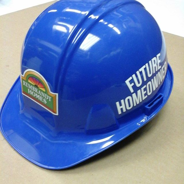 Rembrandt Homes, hardhats decal & lettering