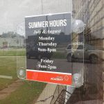 2 Sided Hours Sign