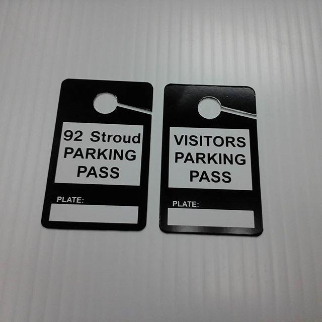 Car mirror parking tags