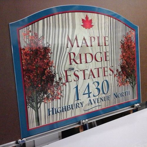 Imitation Sandblasted Sign
