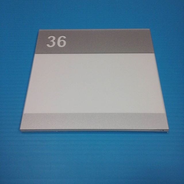 Room # sign, non glare plexi & pvc