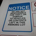 Parking Lot Notice