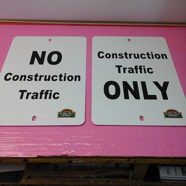 Aluminum Construction signs