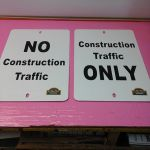 Aluminum Construction signs