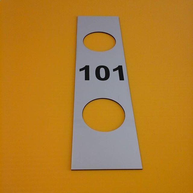 Lasered door plate