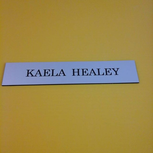 Lasered nameplate
