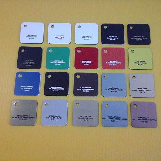 Laser color samples
