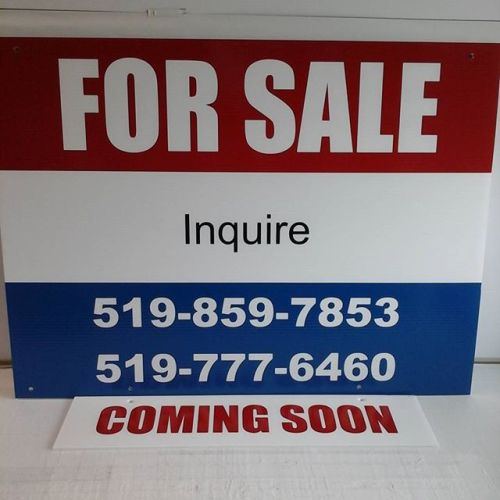 Customized For Sale sign