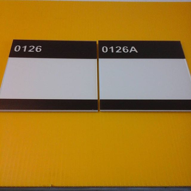Door signs, non-glare plexi/pvc