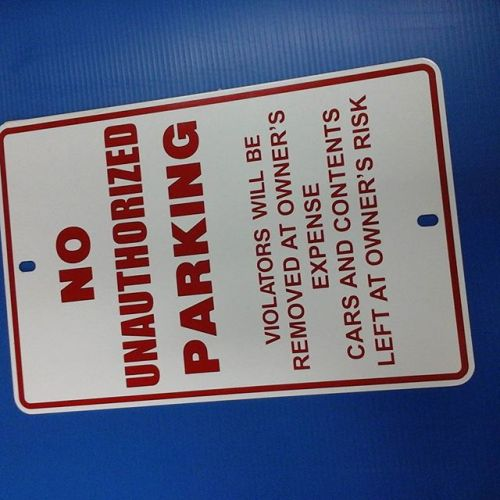 No Unauthorized Parking