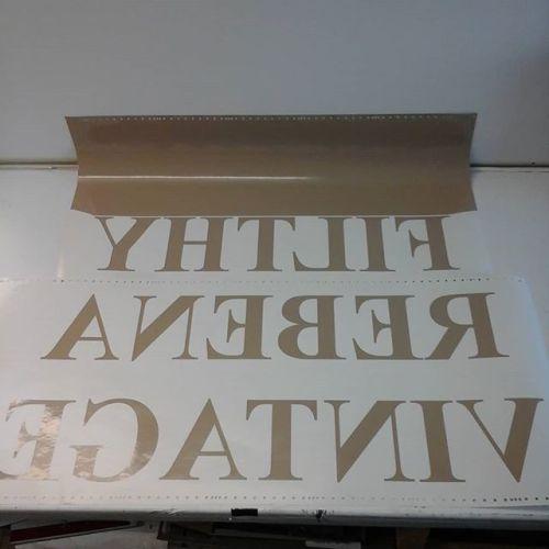 Vinyl letters - reverse cut