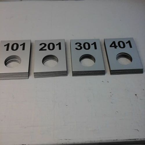 Lasered door signs
