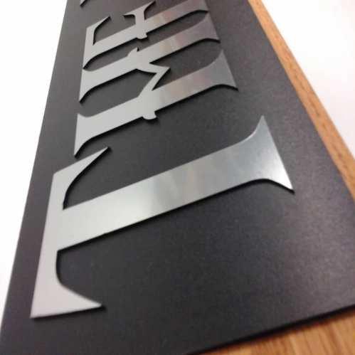 3D Metallic Letters