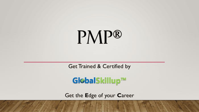 PMP Training and Certification