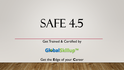 Safe 4.5 Training and Certification