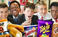 British students try American snacks for the first time