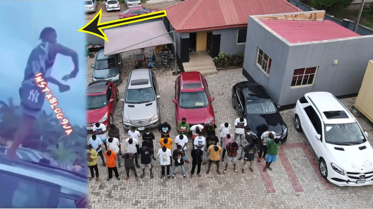 Efcc arrest Yahoo boys after throwing 500 million in just 3 minutes