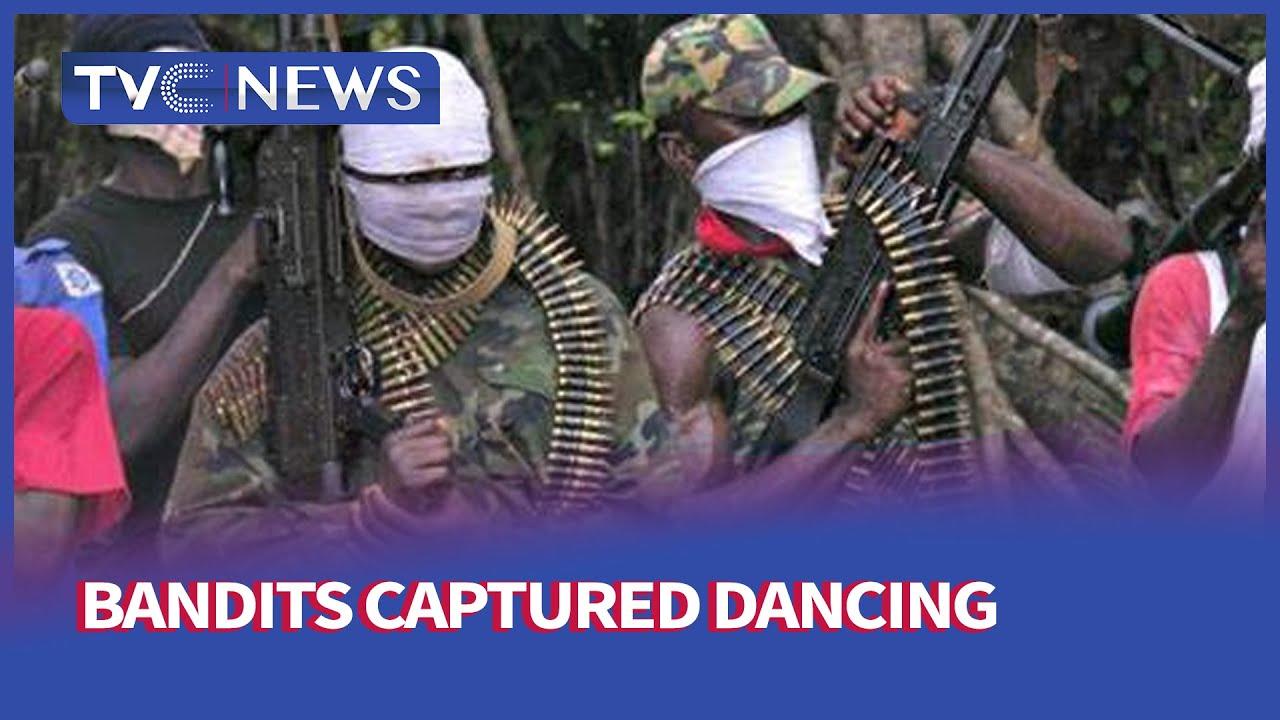 [Journalist hangout full] bandits captured dancing with gun shots in viral video