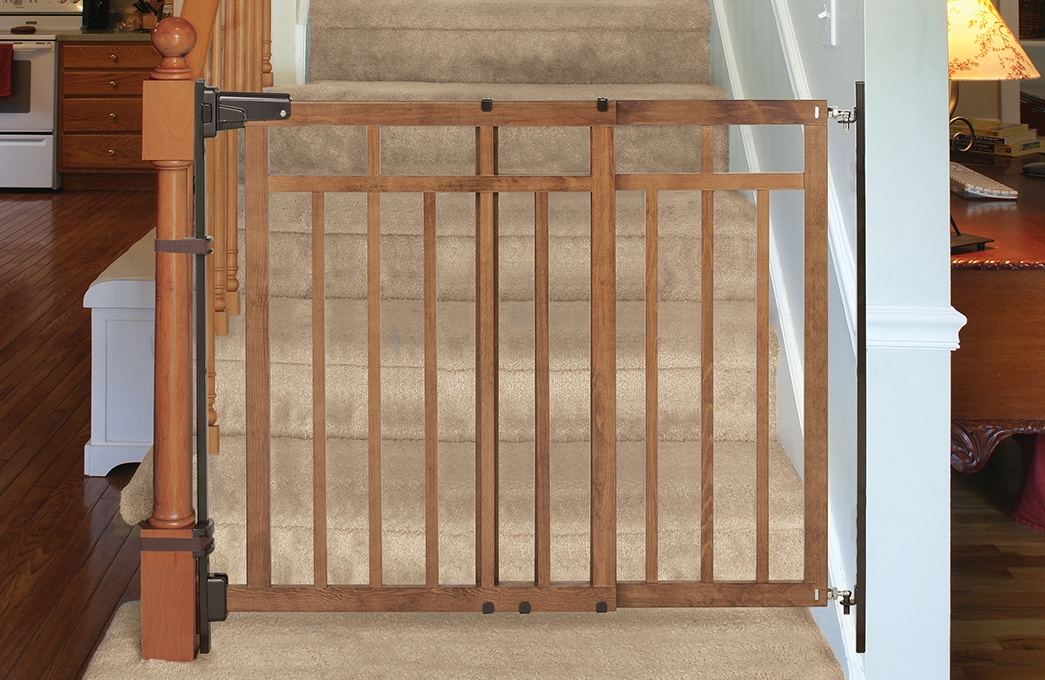 Summer Infant Banister Stair Top Of Stairs Gate With Dual | Top Of Stairs Banister | High End | Indoor | Barn Beam | Redo | Glass