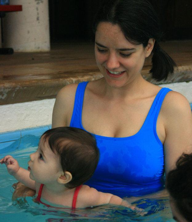 Ava swimming
