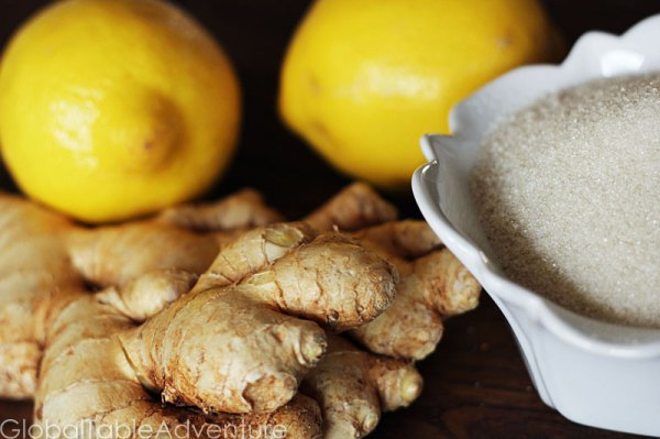 Lemon Ginger Tea | Gingembre | Global Table Adventure