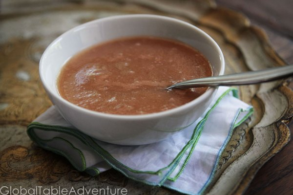 Tart Rhubarb Soup Recipe   Iceland   7 Cold soup recipes from around the world.