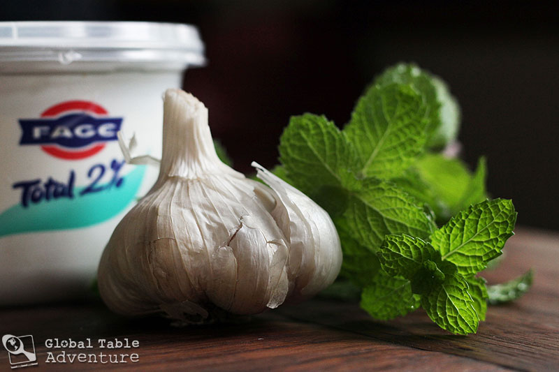 Minty Garlicky Yogurt Sauce | Global Table Adventure