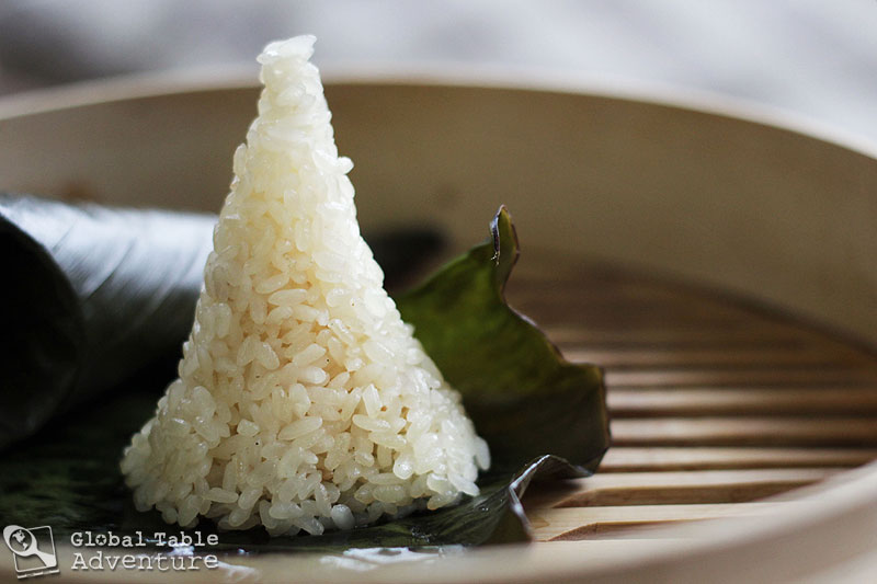 Coconut sticky rice in banana leaves lemang global table adventure today ccuart Gallery