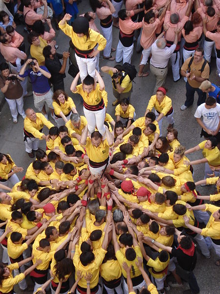 Castellers of Solsona. Photo by Solde.