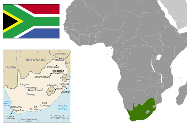 About the food of south africa global table adventure south african maps flag courtesy of the cia world factbook gumiabroncs Choice Image
