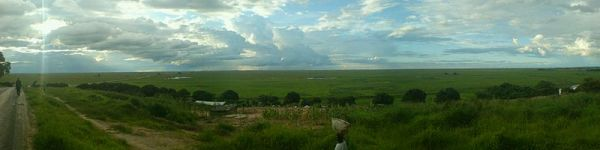 View of the Zambezi Flood Plain. Photo by Makeche.