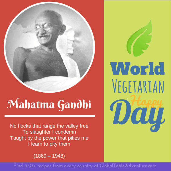 Gandhi quote for world vegetarian day