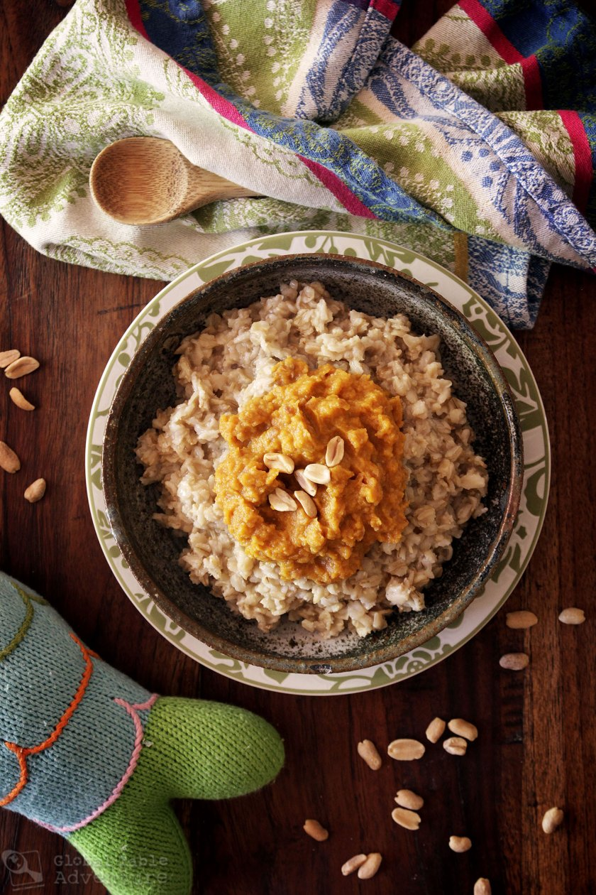 Zambian Breakfast: Pumpkin and Peanut Oatmeal Recipe