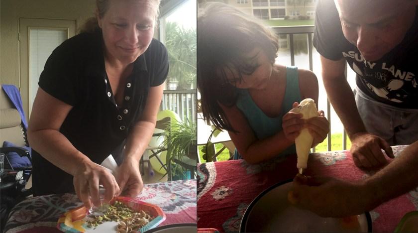 Making Turkish Stuffed Apricots